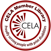 Centre for Equitable Library Access Collection (CELA) Logo