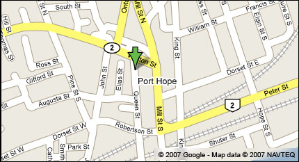 Port Hope Public Library Map - Mary J Benson Branch