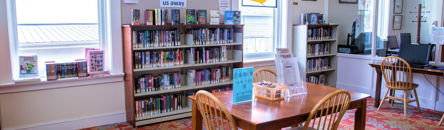 Port Hope Public Library - Book shelves and reading area