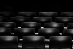 Black movie theater seats